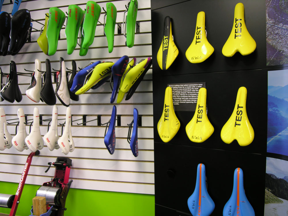 Try out a wide range of saddles to find the best fit